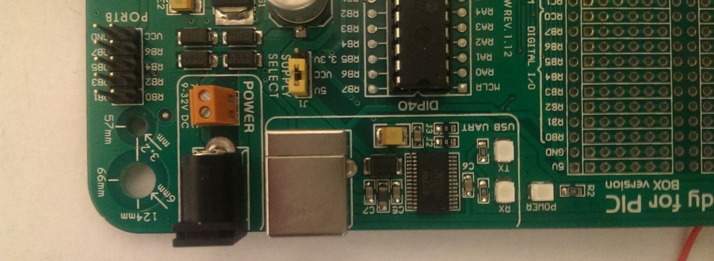 software development on PIC microcontroler